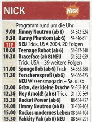 Das Programm des ersten Samstags, 17. September 2005 Hörzu/September 2005