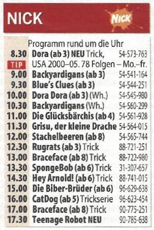 Programm des ersten Sendetags am 12. September 2005 Hörzu/September 2005