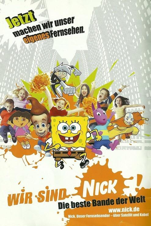 Werbeanzeige zum Sendestart SpongeBob Schwammkopf Magazin (2005)