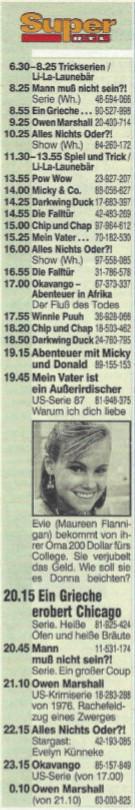 Das Super RTL-Programm vom 14.12.1995 Hörzu
