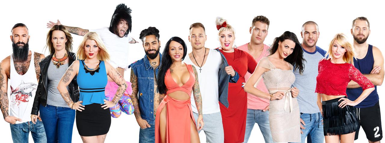 """Die Bewohner der vorerst letzten deutschen """"Big Brother""""-Staffel im Jahr 2015 sixx/Stefan Menne"""