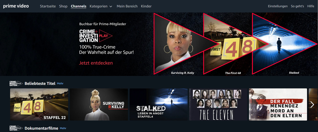 "Ausblick auf den ""Crime + Investigation Play""-Channel A + E Networks Germany"