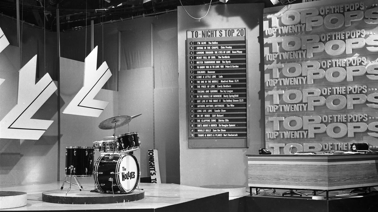 "Studio des Musikshow-Klassikers ""Top of the Pops"" (1965) BBC"