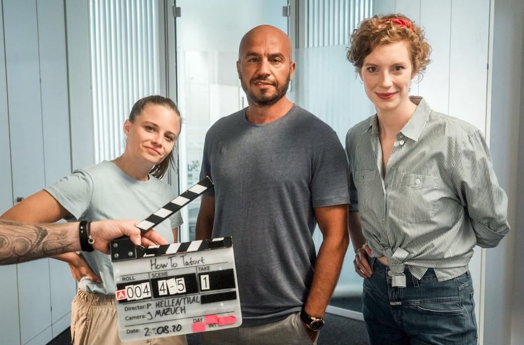 """Haben Jasna Fritzi Bauer (l.), Dar Salim (m.) und Luise Wolfram (r.) das Zeug zum """"Tatort""""-Team? Radio Bremen/bildundtonfabrik-Daniel Milz"""