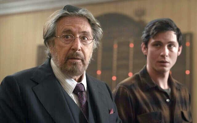 "Meyer Offerman (Al Pacino) mit Jonah Heidelbaum (Logan Lerman) in ""Hunters"". Amazon Prime Video"