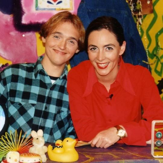 Paddy interviewte Moderatorin Ute Soldierer, als er bei Nickelodeon zu Gast war Paddy Kroetz
