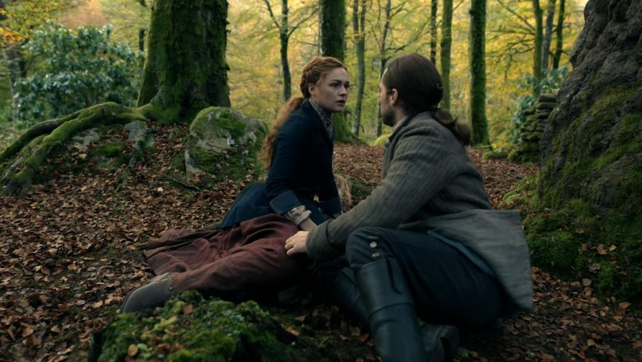 Für Brianna (Sophie Skelton) und Roger (Richard Rankin) nimmt die Reise eine unerwartete Wendung. Starz