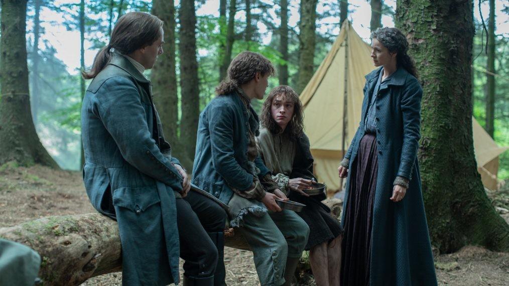 Claire (Caitriona Balfe) und Jamie (Sam Heughan) wollen den Zwillingen helfen. Starz