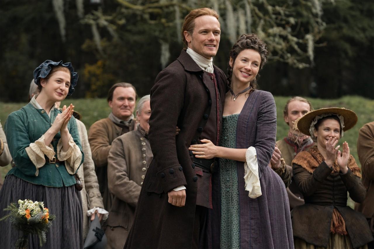 Jamie (Sam Heughan) und Claire (Caitriona Balfe) schwelgen in Erinnerungen. Starz