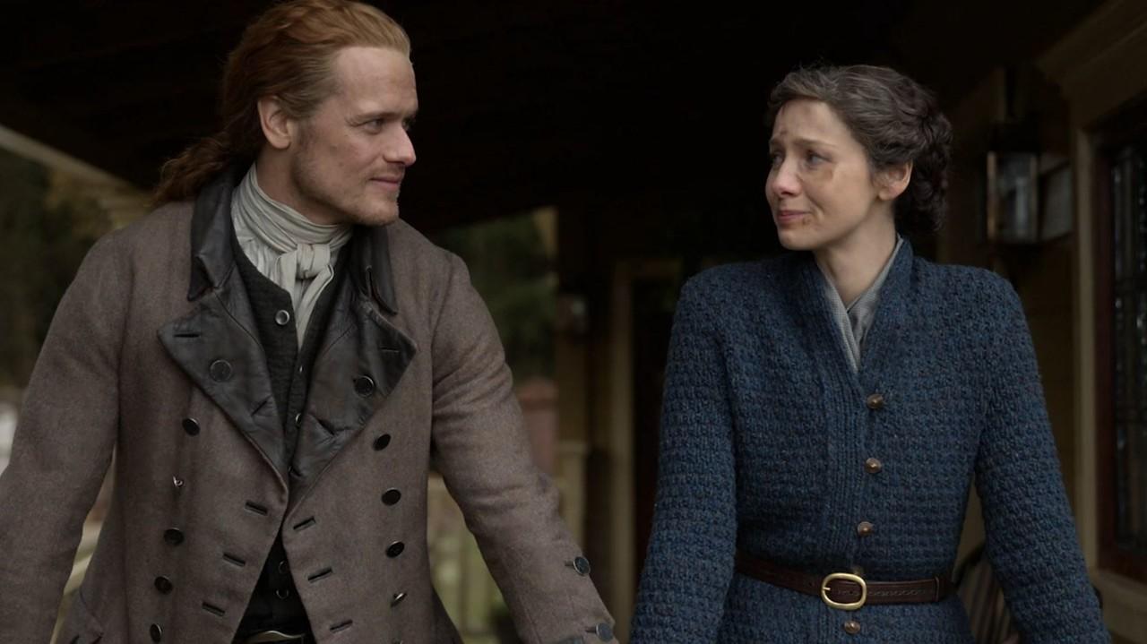 Was hält die Zukunft für Jamie (Sam Heughan) und Claire (Caitriona Balfe) bereit?Starz