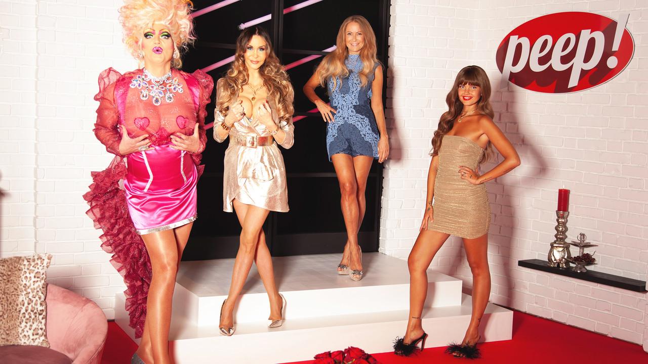 Olivia Jones, Dolly Buster, Jenny Elvers und Moderatorin Bonnie Strange (v. l. n. r.) RTL Zwei/Kay Ruhe