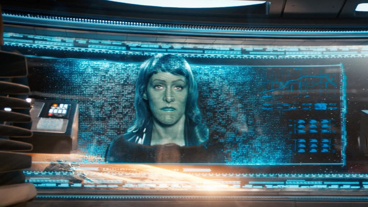 Gegenspielerin Osyraa (Janet Kidder) auf dem Bildschirm. CBS All Access