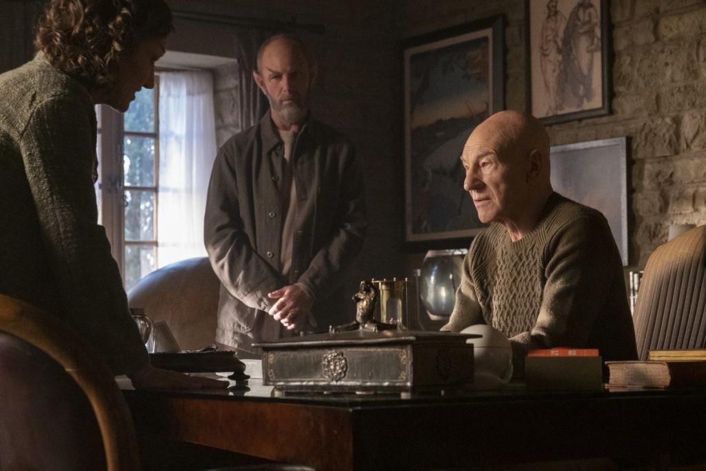 Bleiben blass: Picards spitzohrige Freunde in Ruhestand, Laris (Orla Brady, l.) und Zhaban (Jamie McShane). Trae Patton/CBS