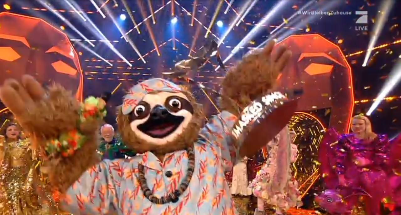 """Das Faultier gewinnt """"The Masked Singer""""! ProSieben/Screenshot"""