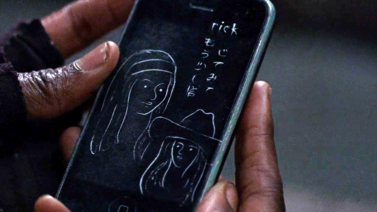 Die Zeichnung zeigt Michonne und Judith. AMC