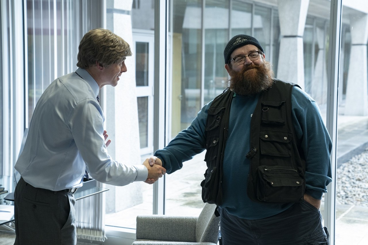 """Chef Dave (Simon Pegg) mit Gus Roberts (Nick Frost) in """"Truth Seekers"""" Colin Hutton/Stolen Pictures/Amazon Prime"""