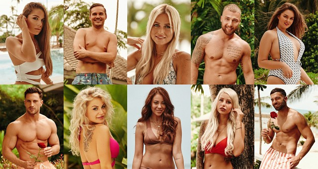 """Das sind die ersten Kandidaten der zweiten """"Bachelor in Paradise""""-Staffel: oben v.l.: Meike, Sören, Jade, Filip und Ernestine unten v.l.: Sebastian, Michelle, Natalie, Carina und Rafi RTL/TVNOW"""