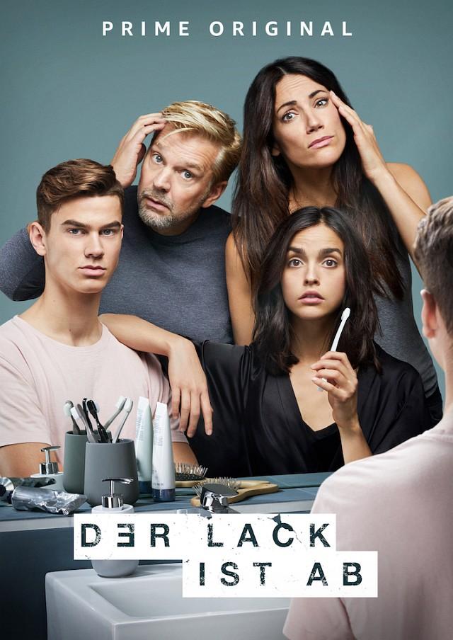 """Poster zur fünften Staffel von """"Der Lack ist ab"""" mit Benjamin Stein, Kai Wiesinger, Bettina Zimmermann und Luise Befort Amazon Prime"""