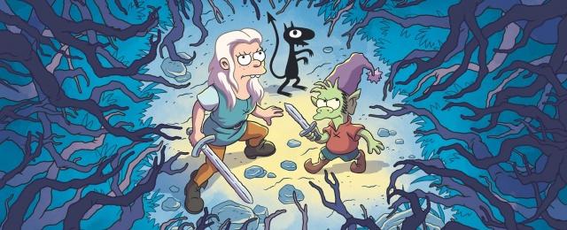 """Auch von """"Disenchantment"""" aus der Schmiede von """"Simpsons""""-Schöpfer Matt Groening haben sich viele Fans vermutlich deutlich mehr erwartet. Die Serie um eine Prinzessin, die lieber ihr eigenes Leben mit Zechgelagen und Abenteuern führen will, als aus politischen Gründen verheiratet zu werden, nimmt einen für die aktuellen Sehgewohnheiten zu langen Anlauf von sechs Folgen, bevor sie kurz vor Schluss zumindest erzählerisch zu überzeugen beginnt. Netflix"""