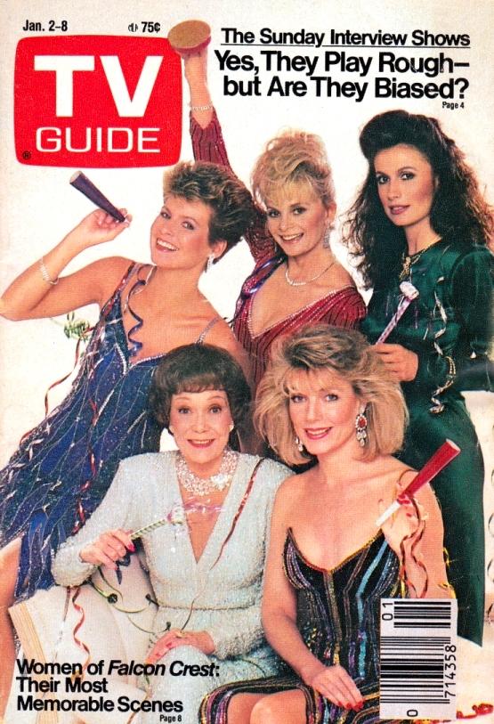 """Cover Girls der 80er Jahre: die """"Falcon Crest""""-StarsTV Guide / eigener Scan"""
