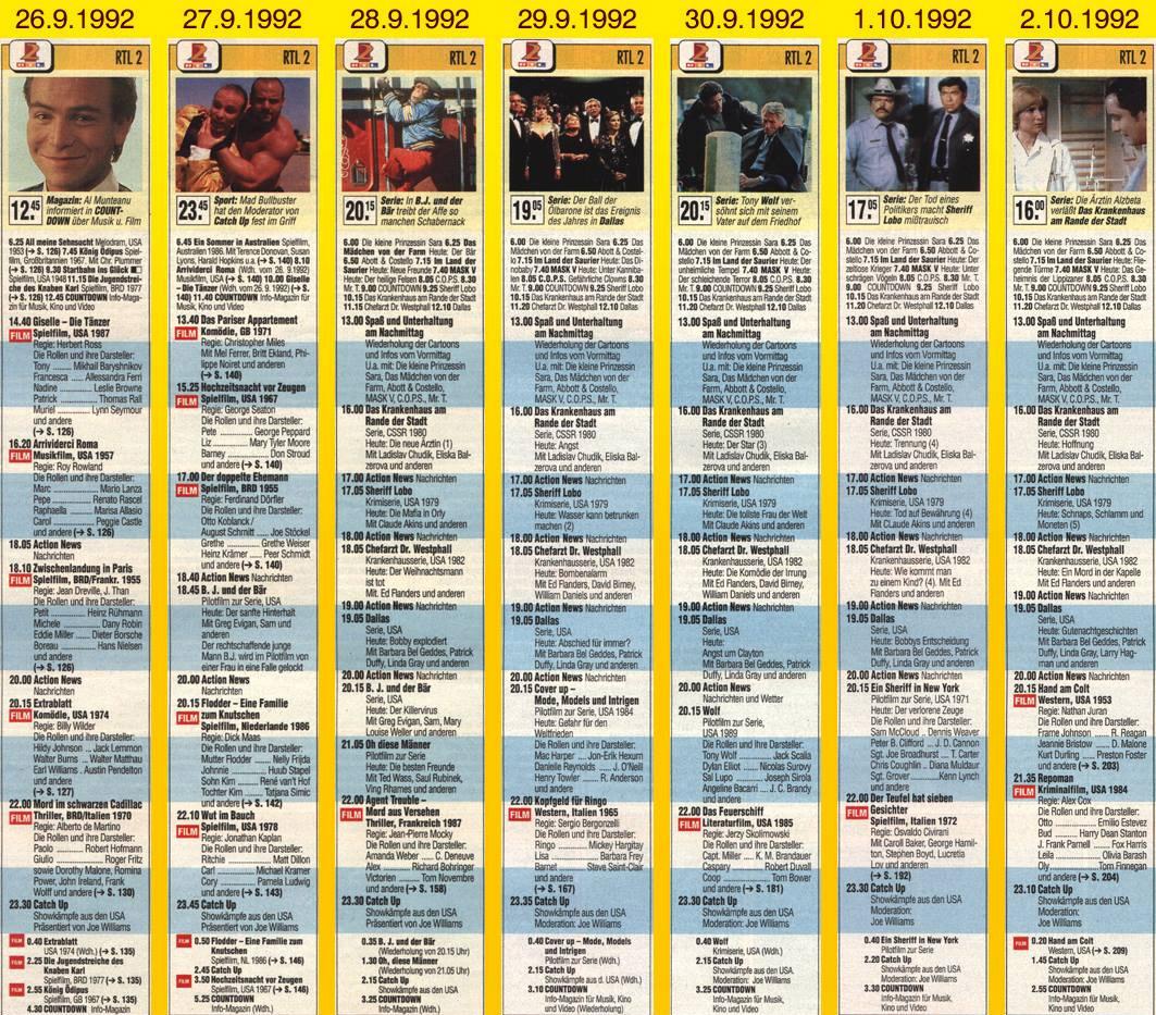 Geplanter, aber nie gesendeter Programmstart 1992 TV Spielfilm