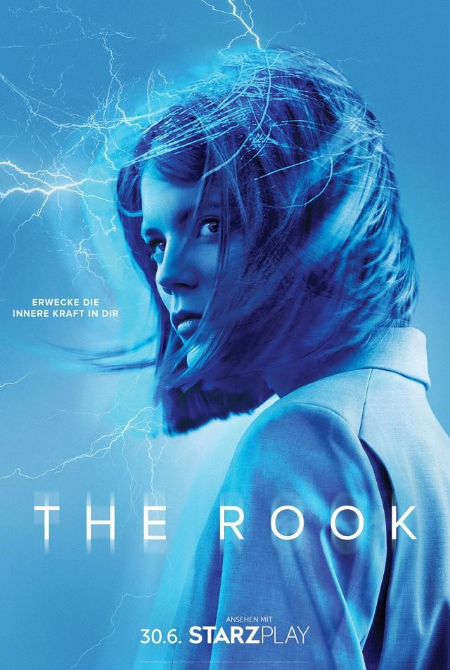 """Poster zu """"The Rook""""; der Claim """"Entdecke die innere Kraft in dir"""" spielt auf die Amnesie der Hauptfigur an. Starzplay"""