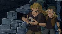 Jojo und Marlon entdecken einen weiteren Tierschädel – © ZDF/WunderWerk GmbH