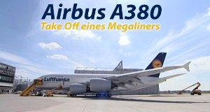 Airbus A380 – Take Off eines Megaliners