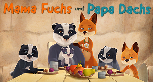 Mama Fuchs und Papa Dachs – Bild: KiKA